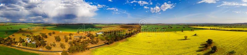Campos rurales panorámicos para las millas y las millas fotos de archivo libres de regalías