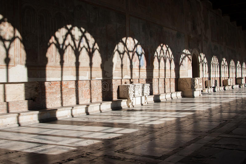 Camposanto i Pisa royaltyfri foto