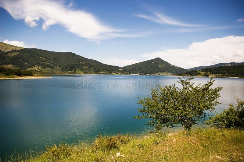 Campotosto (Italy). Lake of Campotosto (Abruzzo - Italy royalty free stock photo
