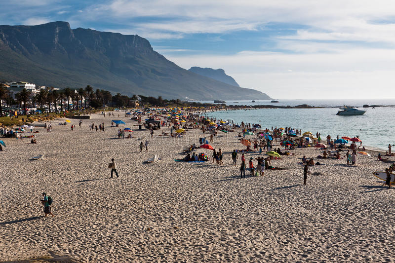 Camps Bay Beach Cape Town royalty free stock images
