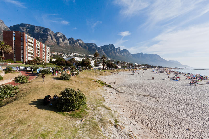Download Camps Bay Beach Cape Town editorial photography. Image of sand - 20913677
