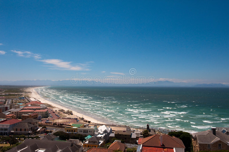 Camps Bay beach in Cape Town stock photo