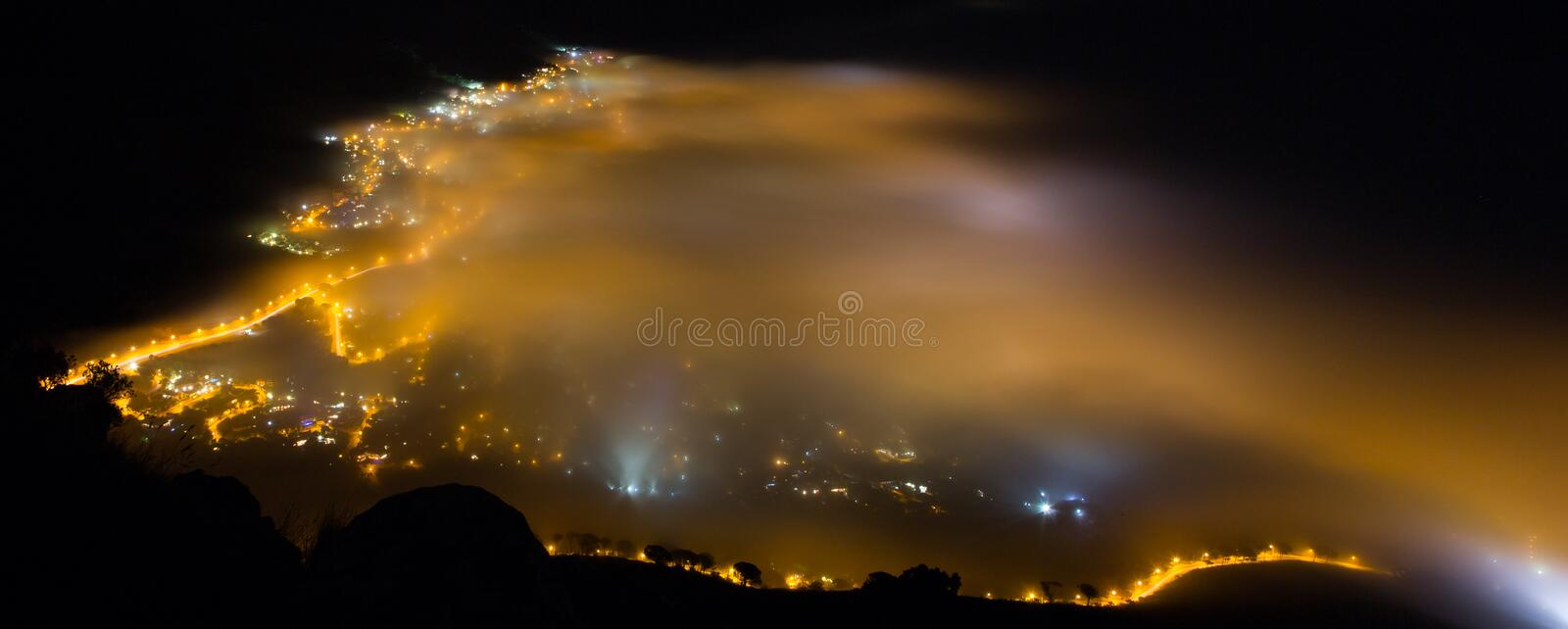 Camps Bay Fog - Cape Town, South Africa stock image