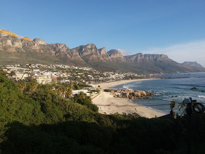 Camps Bay, Western Cape, South Africa. royalty free stock photo