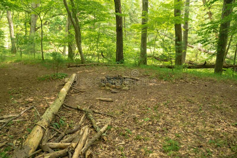 Campsite on the Appalachian Trail in Southwestern Virginia -2 stock image