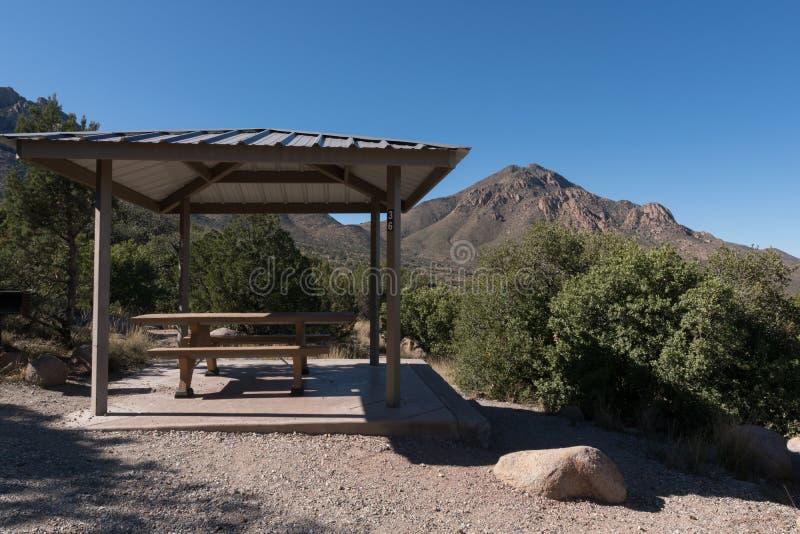 Campsite 36 en el Campamento Aguirre, Nuevo México imágenes de archivo libres de regalías