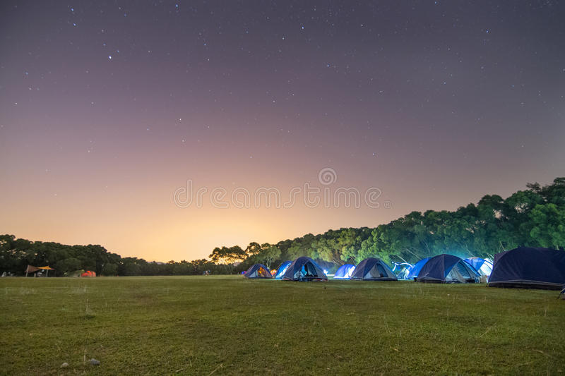 Campsite at Night royalty free stock photo