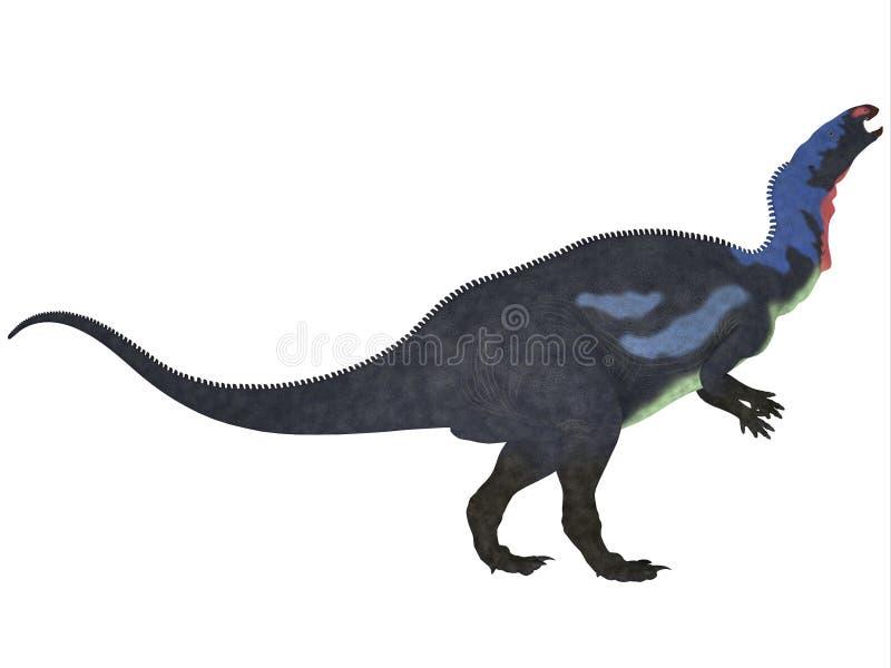 Camptosaurus op Wit stock illustratie