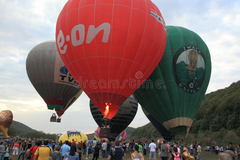 Download Campu Cetatii Hot Air Balloons Parade Editorial Stock Image - Image: 26883174