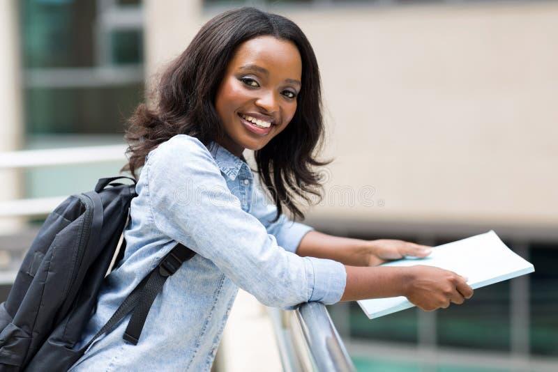 Campus africano del estudiante universitario fotografía de archivo