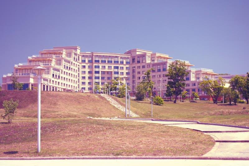 Campus auf der Insel, russische Ferner Osten Bundesuniversität-cc$fefu, stockfoto