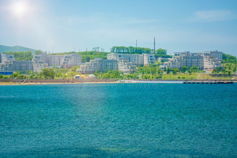Campus auf der Insel, russische Ferner Osten Bundesuniversität-cc$fefu, stockbild