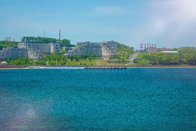 Campus auf der Insel, russische Ferner Osten Bundesuniversität-cc$fefu, lizenzfreie stockfotografie