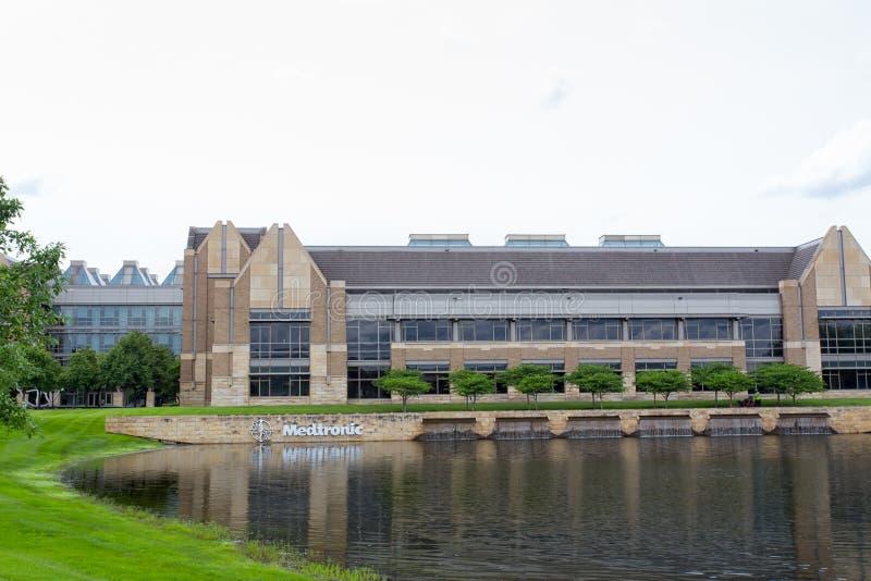 Campus d'entreprise de sièges sociaux de Medtronic image stock