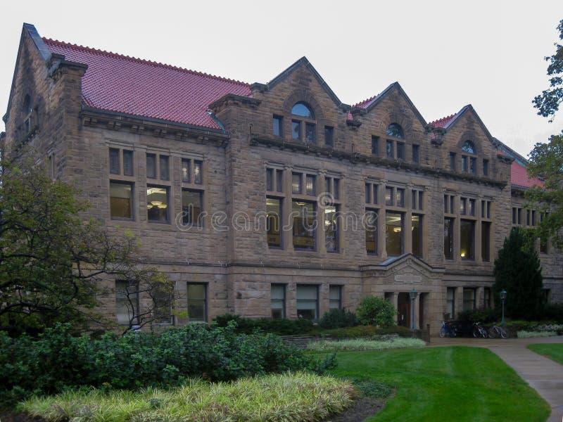 Campus de la universidad de Oberlin en Ohio foto de archivo libre de regalías