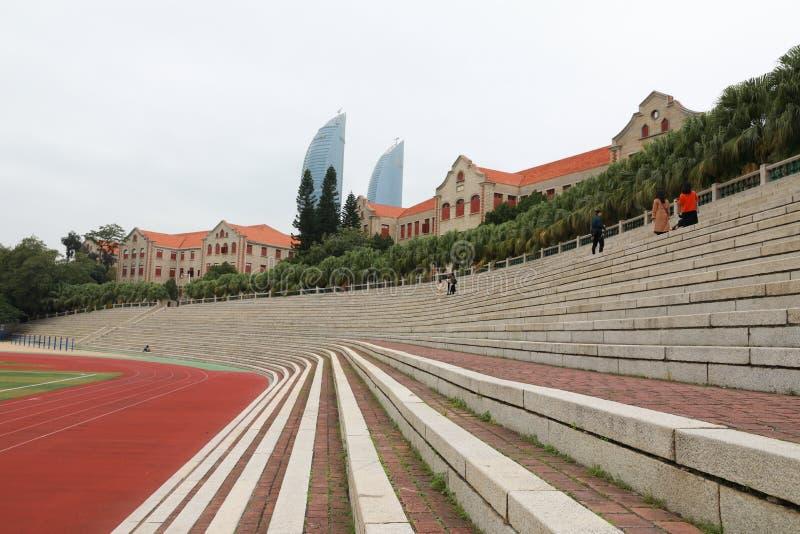 Campus de la universidad de Xiamen imagenes de archivo