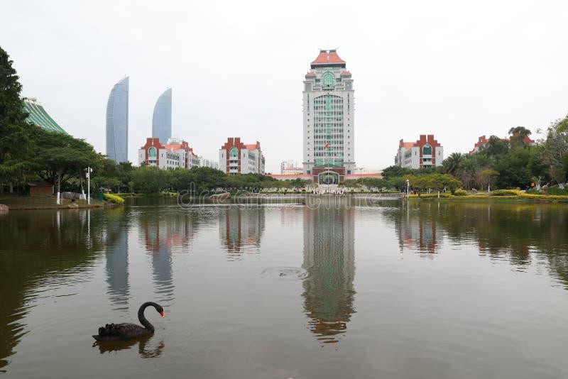 Campus de la universidad de Xiamen imagen de archivo