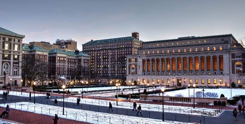 Campus de Morningside d'Université de Columbia images libres de droits
