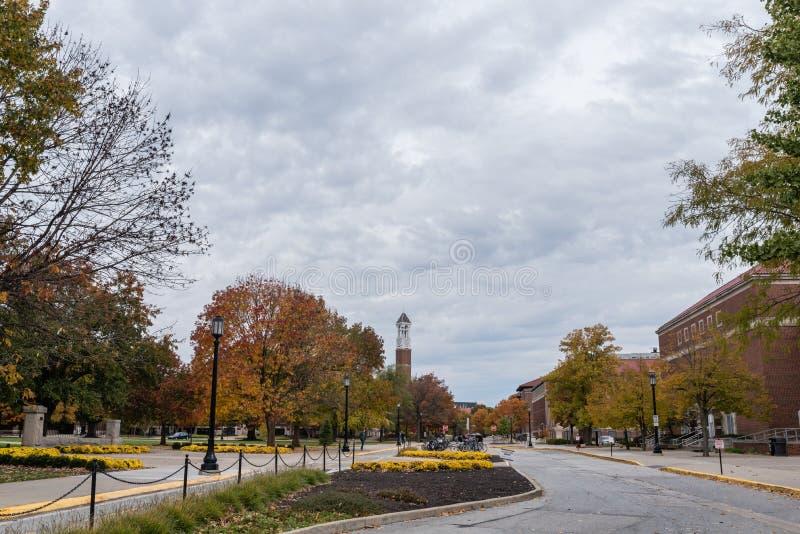 Campus del Purdue University en la caída imágenes de archivo libres de regalías