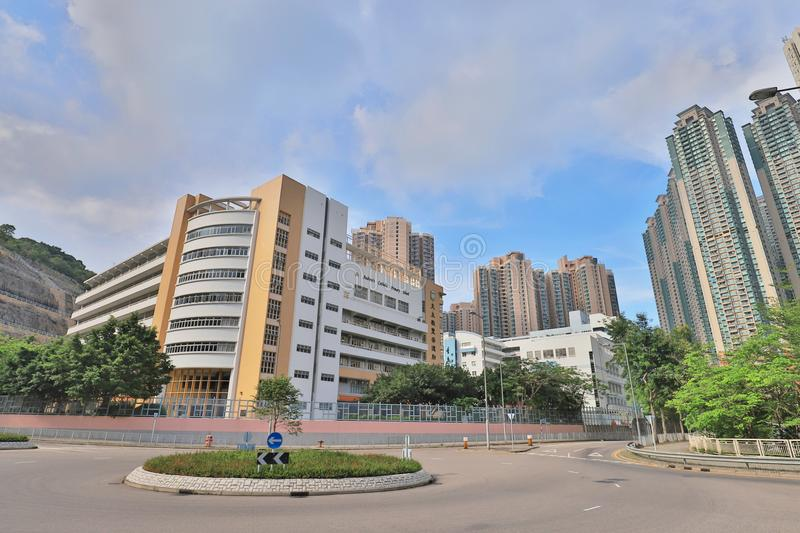 A campus of high school at tko. The campus of high school at tko stock images