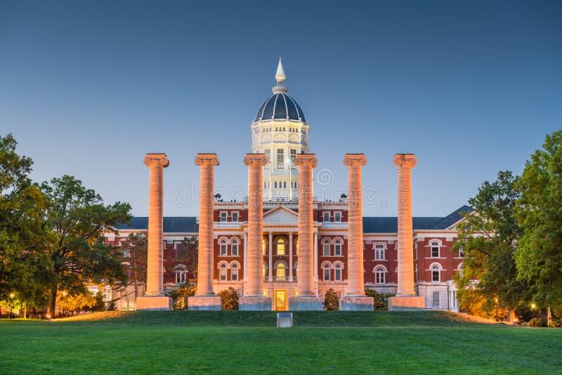 Campus historique de Colombie, Missouri, Etats-Unis photographie stock