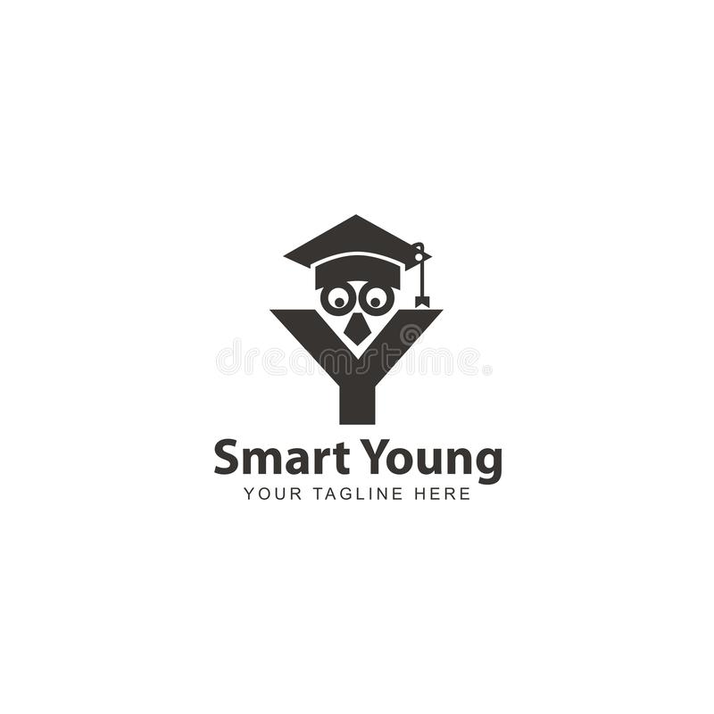 Campus logo design inspiration. With initial Y royalty free illustration