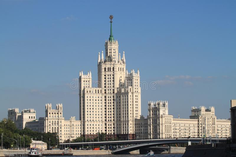 Campus of Lomonosov Moscow State University royalty free stock images