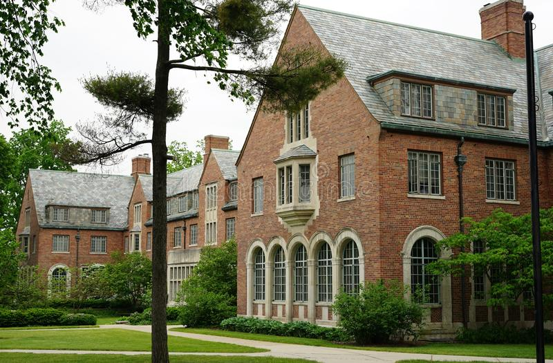 The campus of Michigan State University in East Lansing, MI. EAST LANSING, MI - Founded in 1855 as the Agricultural College of the State of Michigan, Michigan stock photography