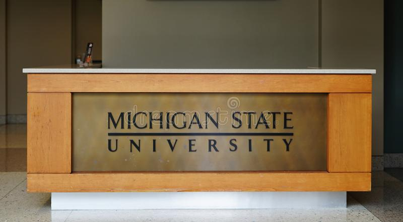 The campus of Michigan State University in East Lansing, MI. EAST LANSING, MI - Founded in 1855 as the Agricultural College of the State of Michigan, Michigan royalty free stock photography