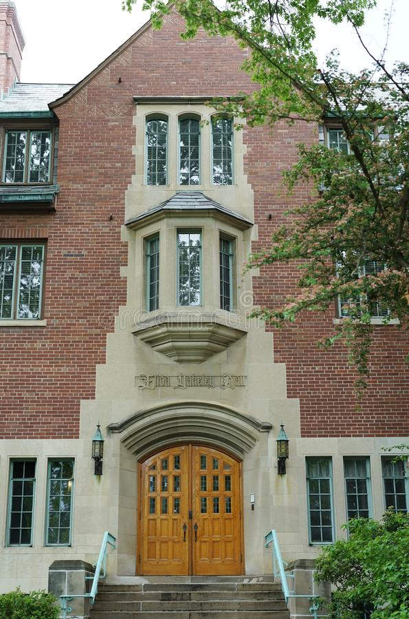 The campus of Michigan State University in East Lansing, MI. EAST LANSING, MI - Founded in 1855 as the Agricultural College of the State of Michigan, Michigan stock image