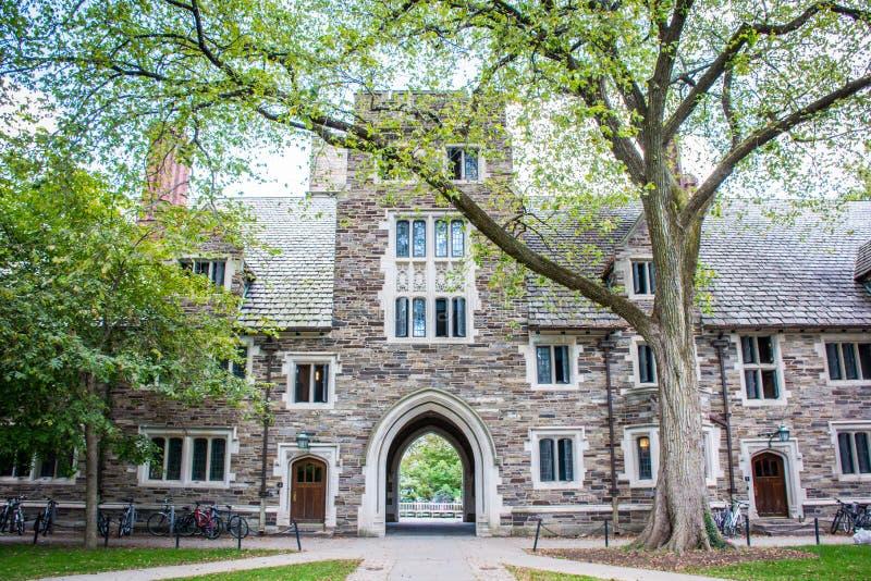 The Campus of Princeton University. Princeton University is a Private Ivy League University in New Jersey, USA royalty free stock photos