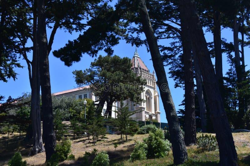Campus solitaire de montagne d'université solitaire de montagne, 2 image libre de droits