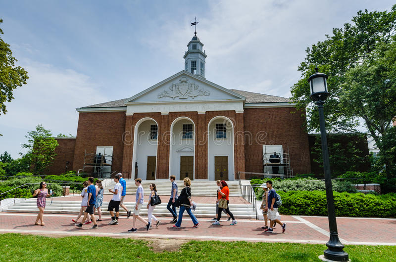 Campus Tour - Johns Hopkins University - Baltimore, MD stock photography