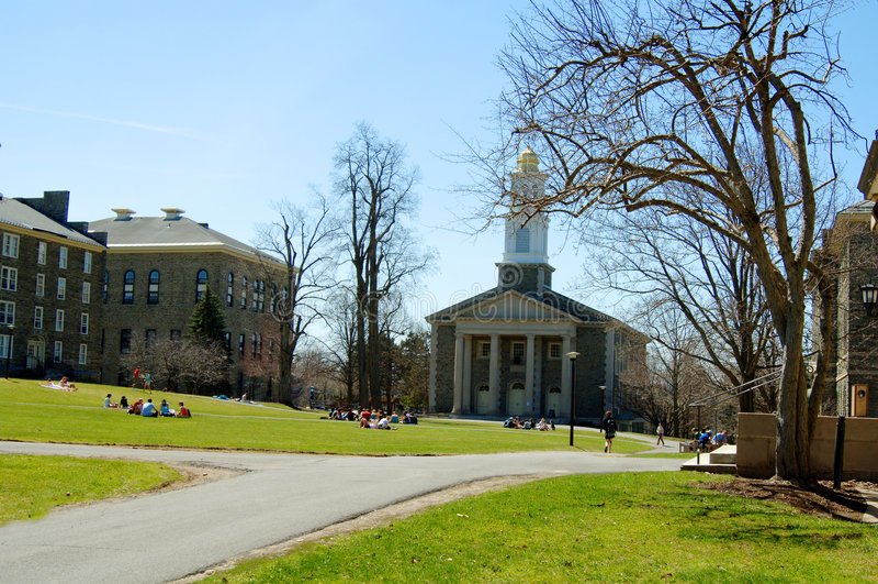 Campus universitário imagens de stock royalty free