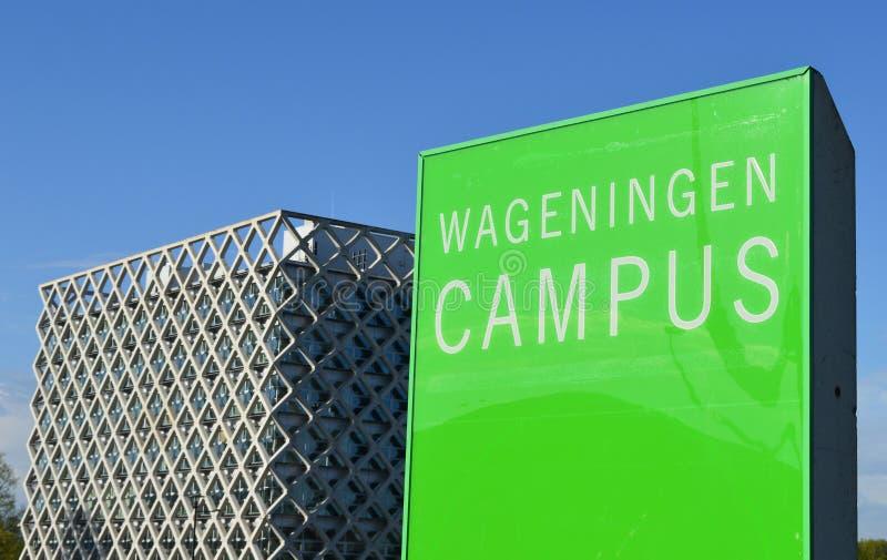Campus universitário de Wageningen imagens de stock royalty free