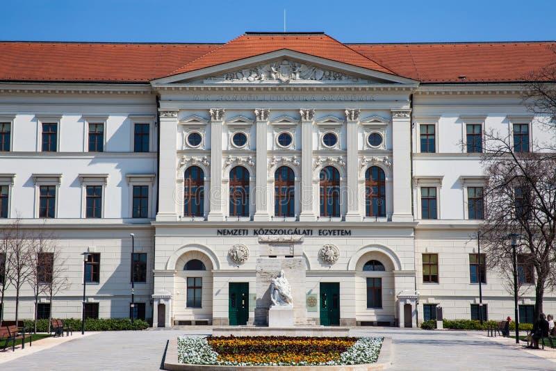 Campus universitário nacional Ludovica do serviço público em Budapest imagens de stock royalty free