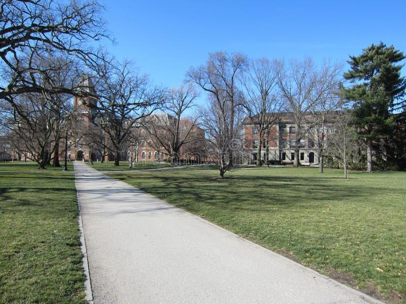Campus universitaire image libre de droits