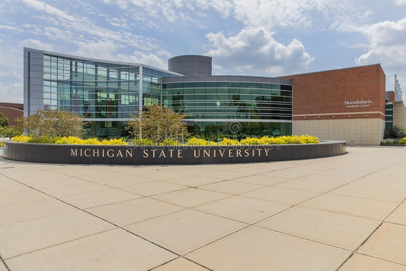 Campus universitaire d'État du Michigan photo stock