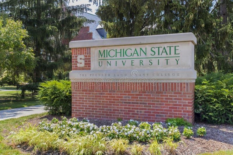 Campus universitaire d'État du Michigan image libre de droits
