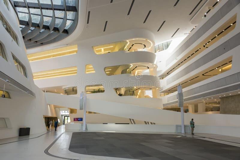 Campus universitaire de Vienne - intérieur de bibliothèque image libre de droits