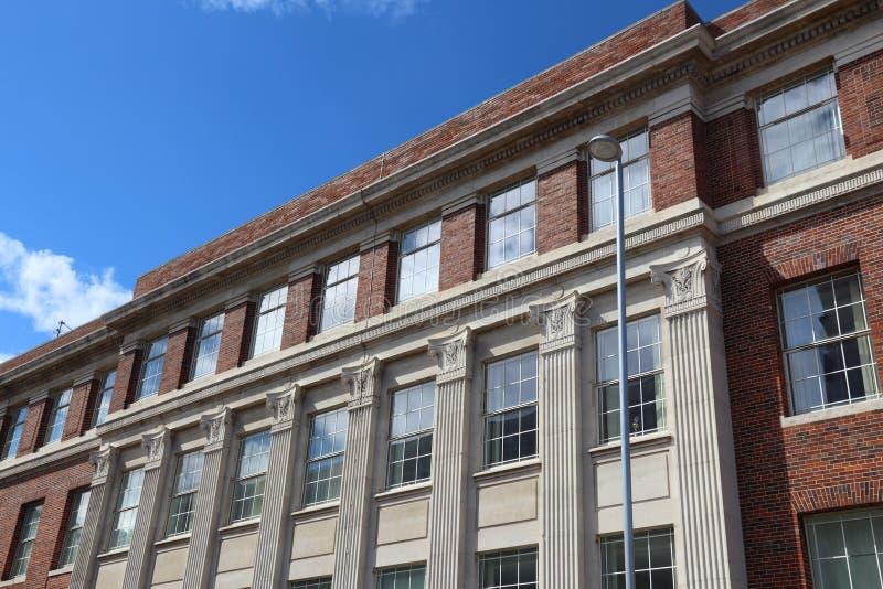 Campus universitario Barnsley fotografia stock