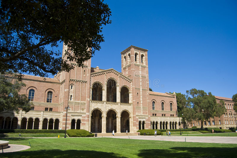 Campus universitario de California foto de archivo libre de regalías