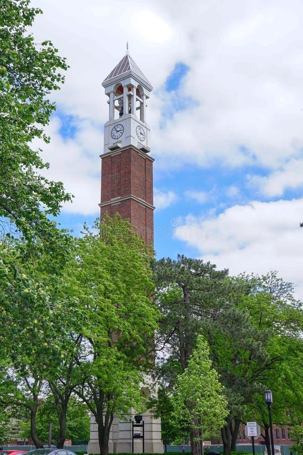 Campus universitario de Purdue fotografía de archivo libre de regalías