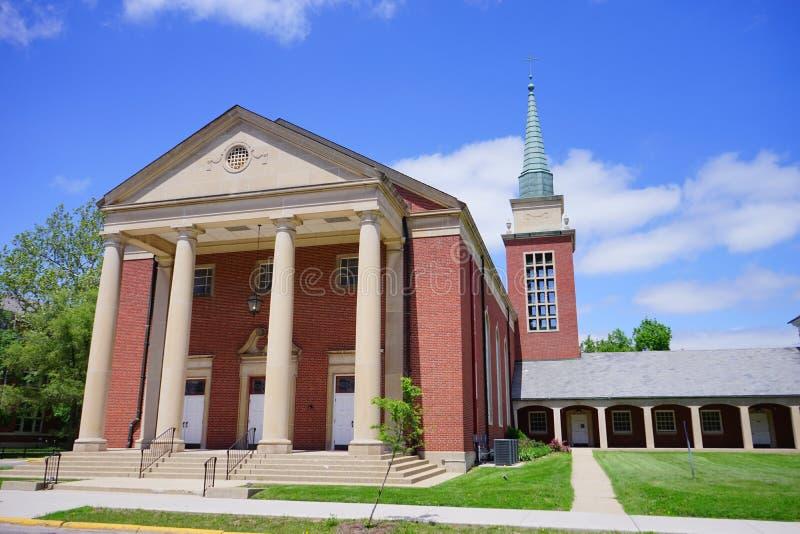 Campus universitario de Purdue imagen de archivo libre de regalías