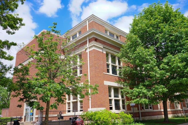 Campus universitario de Purdue imagen de archivo
