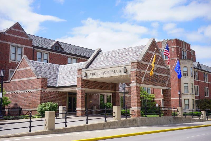 Campus universitario de Purdue: club de la unión imagenes de archivo