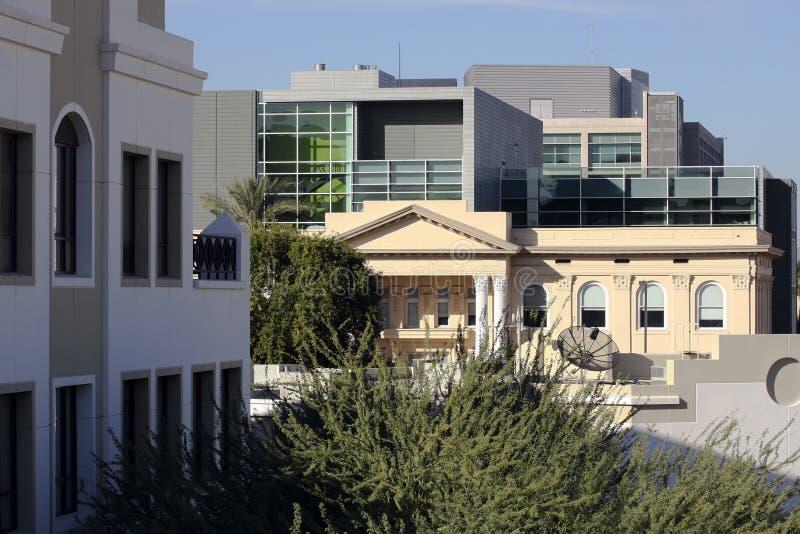 Campus universitario del centro di Phoenix fotografie stock