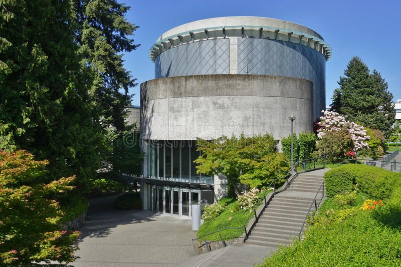 The campus of the University of British Columbia (UBC). VANCOUVER, CA - Located on a beautiful peninsula at Point Grey, the University of British Columbia (UBC) royalty free stock images