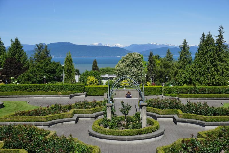 The campus of the University of British Columbia (UBC). VANCOUVER, CA -Located on a beautiful peninsula at Point Grey, the University of British Columbia (UBC) stock photos