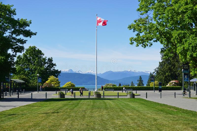 The campus of the University of British Columbia (UBC). VANCOUVER, CA -Located on a beautiful peninsula at Point Grey, the University of British Columbia (UBC) stock images